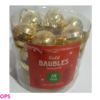 GOLD BAUBLES 18 PACK