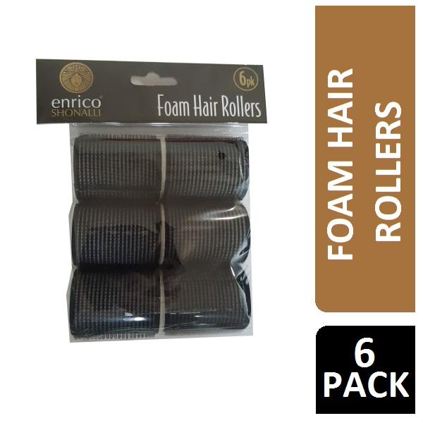 ENRICO SHONALLI FOAM HAIR ROLLERS 6PK