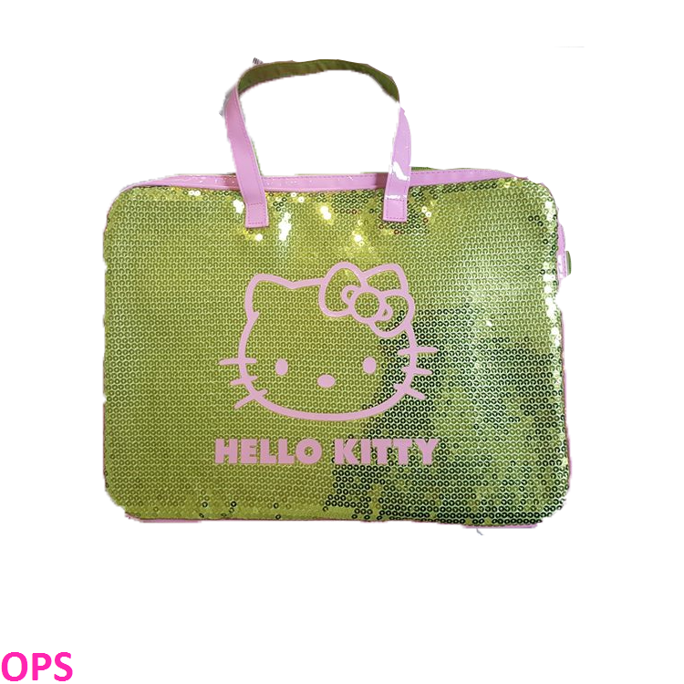 HELLO KITTY GOLD LAPTOP BAG