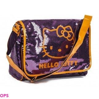 HELLO KITTY PURPLE MESSENGER BAG
