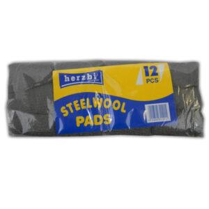 HERZBI LIMITED STEELWOOL PADS 12 PCS