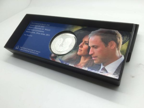 HRH Prince of Wales & Miss Catherine Middleton Silver plated coin - Limited Edition