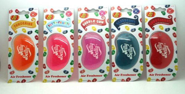 Jelly Belly Air Freshener x5 - Tutti-fruitt, Tangerine, Bubble Gum, Blueberry, Very Cherry