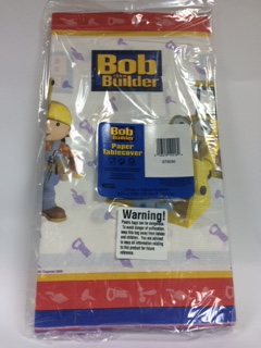 BOB THE BUILDER PAPER TABLE COVER 54 IN X 102 IN
