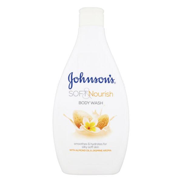 JOHNSON'S SOFT NOURISH BODY WASH WITH ALMOND OIL & JASMINE AROMA 400ml