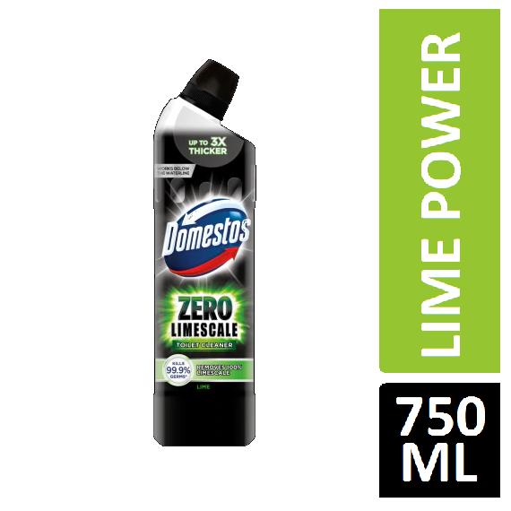 Domestos ZERO LIMESCALE TOILET CLEANER LIME POWER 750ML