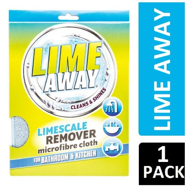 LIME AWAY LIMESCALE REMOVER MICROFIBRE CLOTH FOR BATHROOM & KITCHEN