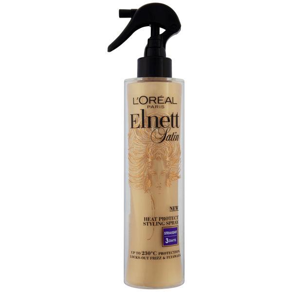 L'Oreal Paris Elnett Satin Heat Protect Spray - Straight (170ml)