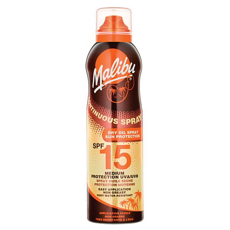 Malibu Continuous Spray Dry Oil With SPF15 175ml