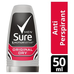 SURE ROLL ON ORIGINAL MEN 24 HOUR ANTI-ROLL ON 50ML