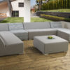 Melbourne 6pc modular upholsteryset and waterproof covers - Combination of Porto and Grey Fabric