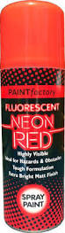 Paint Factory Fluorescent Neon Red Spray Paint 200ml
