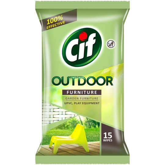 Cif Outdoor Furniture 15 Wipes