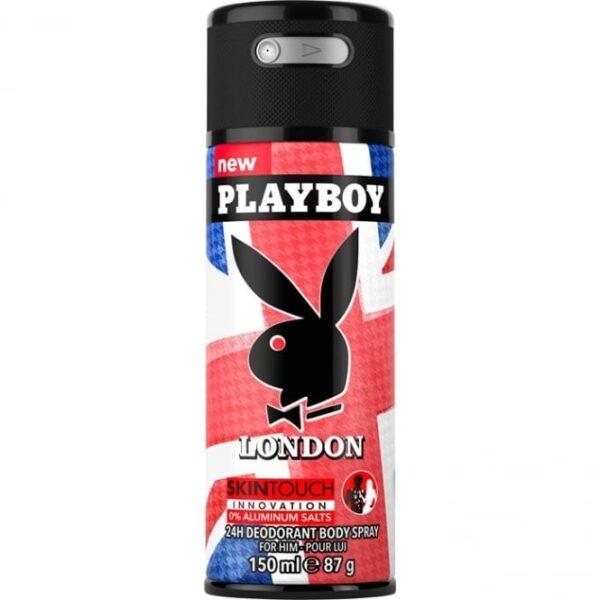 PlayBoy London Skin Touch Deodrant Body Spray 150ml