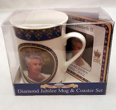 Diamond jubilee mug & coaster