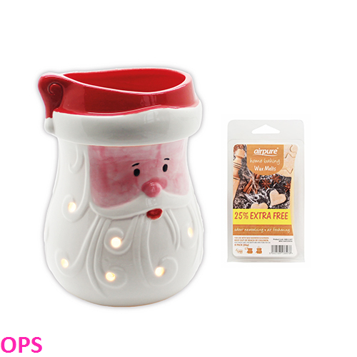 AirPure Santa Mr. Christmas Electric Wax Melts with FREE Wax Melts