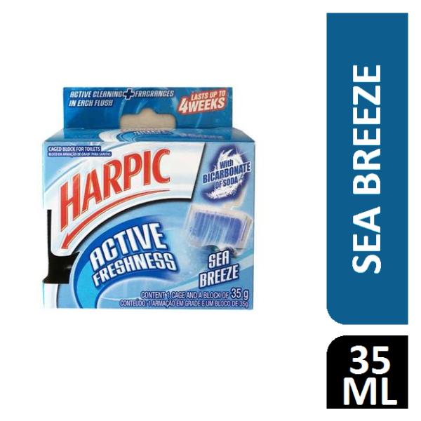 Harpic Active Freshness Toilet Rim Block Sea Breeze - 35g