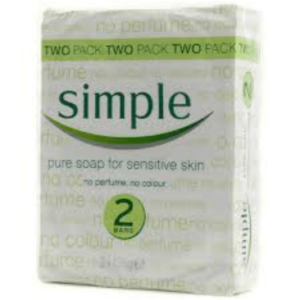 SIMPLE SOAP PURE SENSITIVE 2PACK 125G