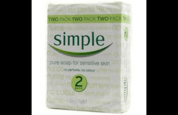 SIMPLE SOAP PURE SENSITIVE 2PACK 125G
