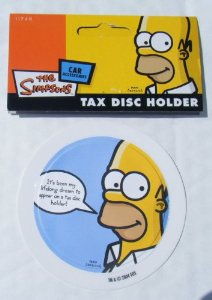 THE SIMPSONS TAX DISC HOLDER