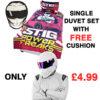 Top Gear Single Duvet Set & Cushion Set