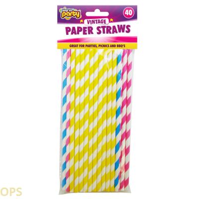 PAPER STRAWS 40PK 317413