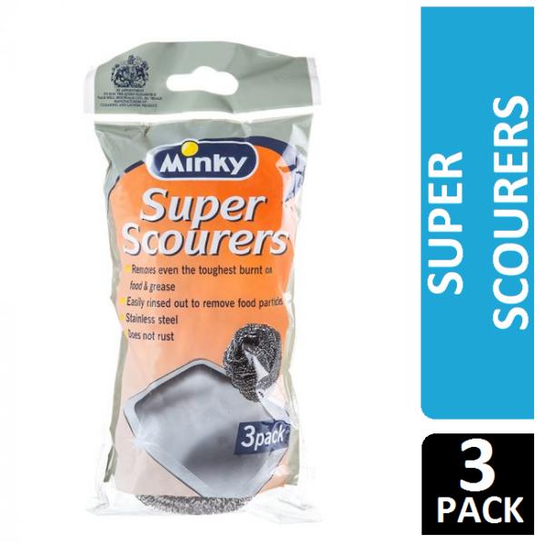 Minky Super Scourers, x3