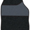 Velour Black / Black Binding 4 pce Carpet Mats