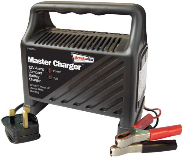 12v 4 Amp Compact Plastic Cased Batter Charger