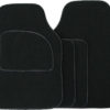 Velour Black / Black Binding 4 pce Carpet Mats