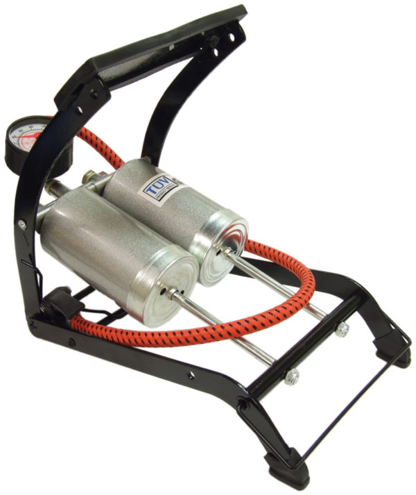 De-Luxe Twin Cylinder Foot Pump with 270 Gauge