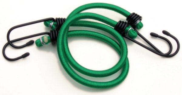 """Pair 18"""" Bungee Elastic - Green"""
