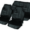 Black Water Resistant Lightweight Full Set Seat Cover