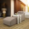 Sydney upholsteredSunlounger & waterproof cover - Beige Fabric