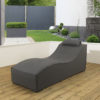 Sydney upholstered Sunlounger and waterproof cover - Slate fabric