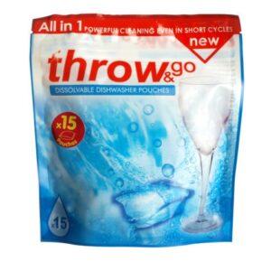 Throw & Go Dissolvable Dishwasher Pouches
