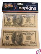 Time To Party Novelty Money Napkins (10pk)