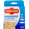 Treat & Ease Washproof Plasters Assorted Strips 110