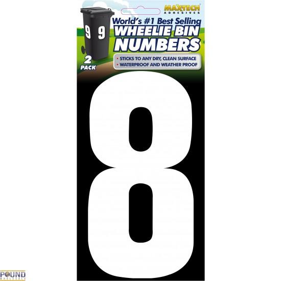 Wheelie Bin Numbers (8)