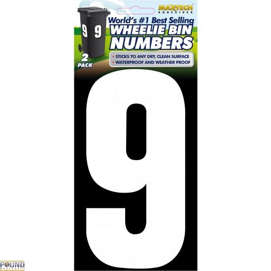 Wheelie Bin Numbers (9)