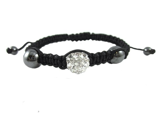 crystal ball bracelet silver
