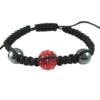 crystal ball bracelet red