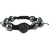 crystal ball bracelet black