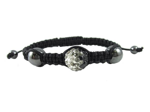 crystal ball bracelet clear silver