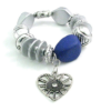 fashion bracelet blue/silver