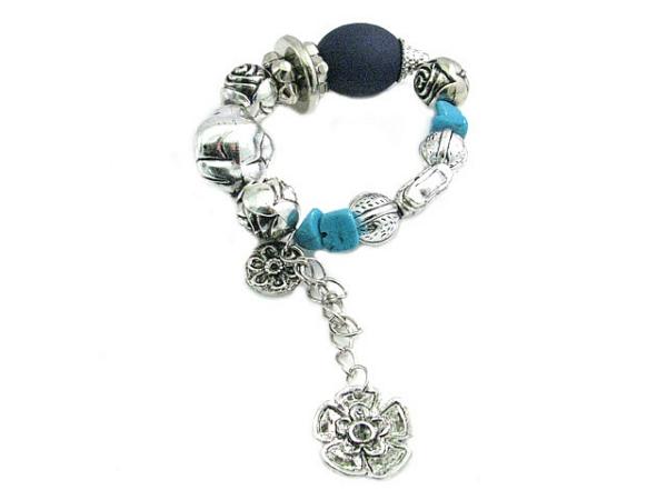 fashion bracelet pale blue/silver