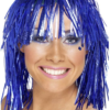 CYBER TINSEL WIG (BLUE)