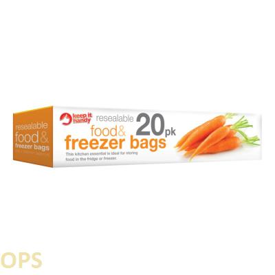 FOOD & FREEZER BAGS 20PK