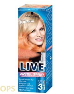 Live Colour Pastel Spray apricot sunrise