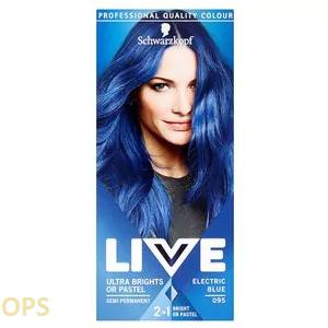 schwarzkopf live 095 ELECTRIC BLUE